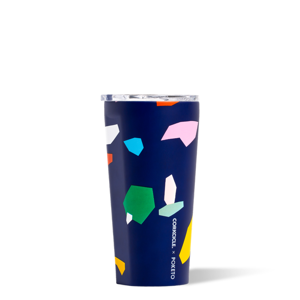 Corkcicle Poketo Blue Confetti Corkcicle Tumbler