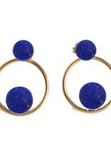 Elisha Marie Lapis Lazuli Hoop Earring