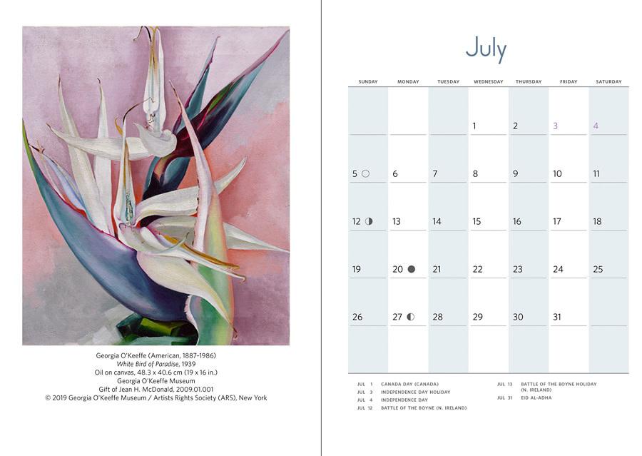 Georgia O'Keeffe Engagement Calendar 2020