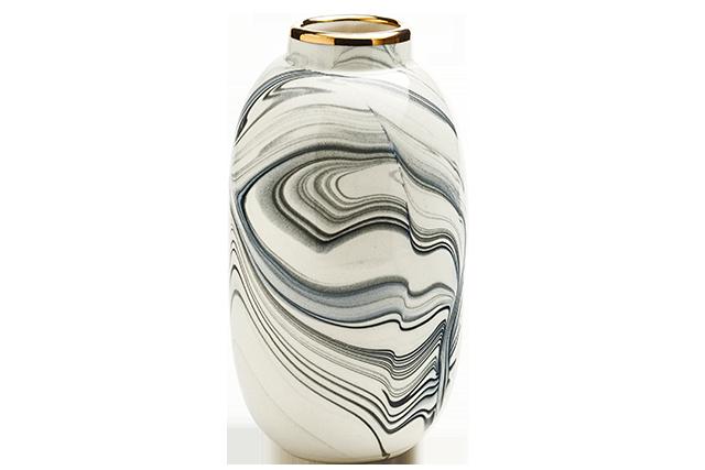 Eliana Bernard Oblong Bud Vase With Gold