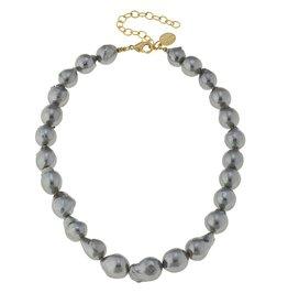 Grey Baroque Pearl Necklace