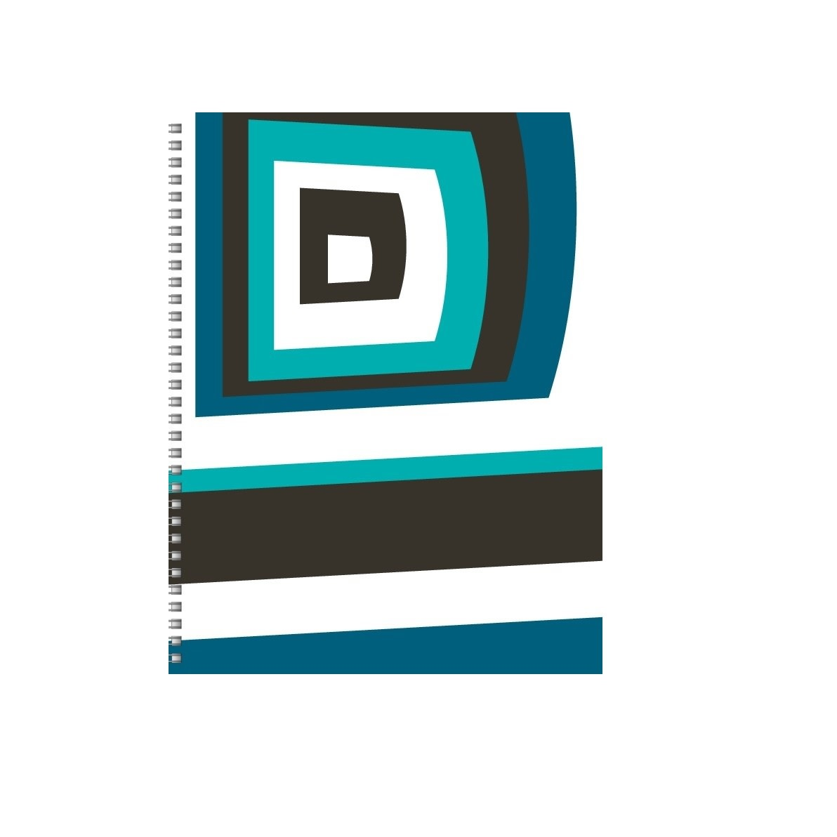 Personalized Paper Blue Brand Spiral Sketchbook