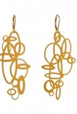 Melissa Borrell Circles Gold Earrings