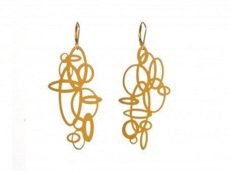 Melissa Borrell Circles Gold Earrings