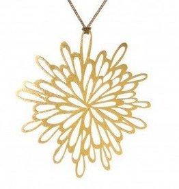 Melissa Borrell Sunburst Gold Necklace