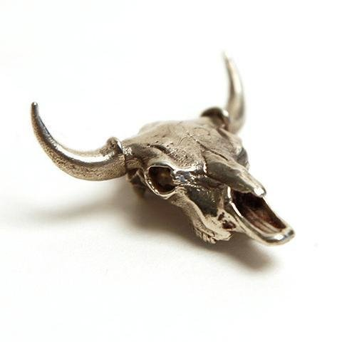 American Bison White Bronze Necklace With Stand