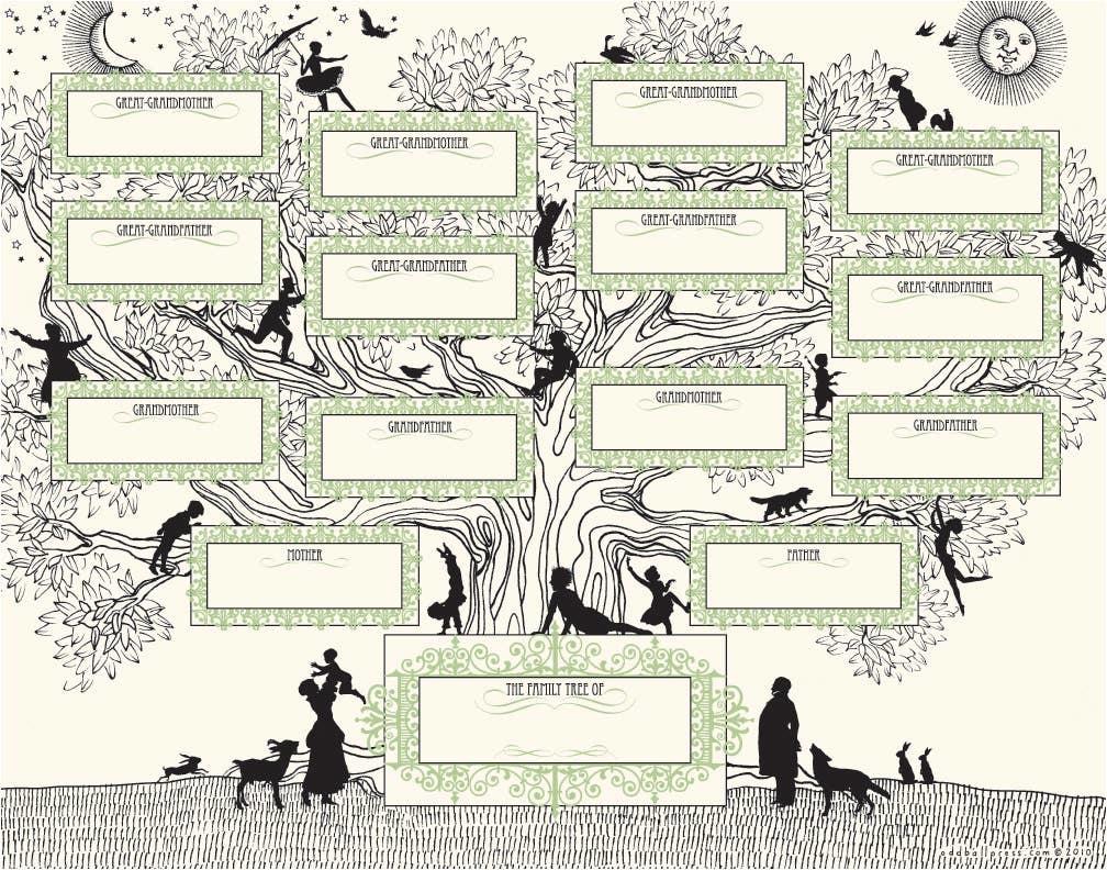 Oddball Press Letterpress Family Tree