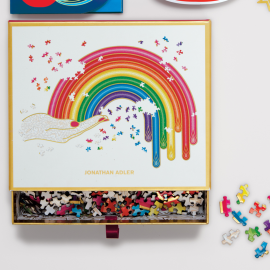 Galison Jonathan Adler Rainbow Hand 750 Piece Shaped Jigsaw Puzzle