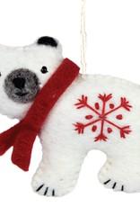DZI Handmade Polar Bear Ornament