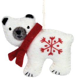 DZI Handmade Polar Bear Ornament