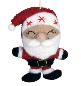 DZI Handmade Santa Ornament
