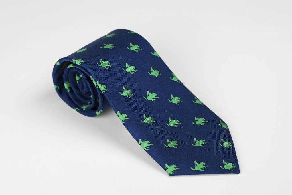 Exclusive Blue Remington Cowboy Tie