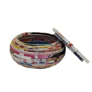 The Upcycled Paper Company Vietnamese Bowl With Lid