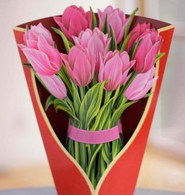 Freshcut Paper Pink Tulips Paper Bouquet