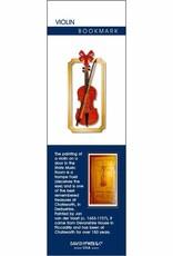Violin Metal Bookmark