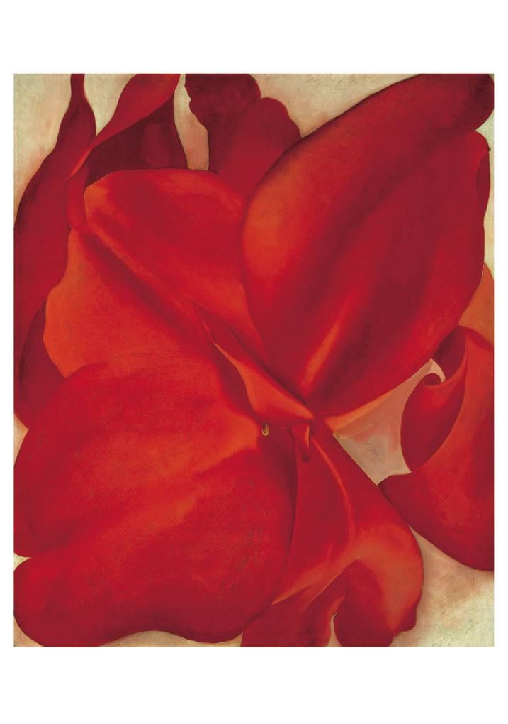 Georgia O'Keeffe Red Flower Boxed Notecard