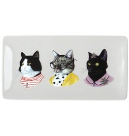 Berkeley Bestiary Cat Portraits Porcelain Tray