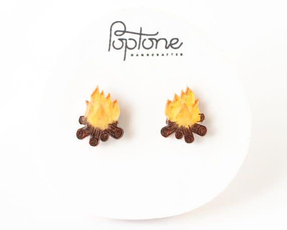 Poptone Campfire Stud Earrings