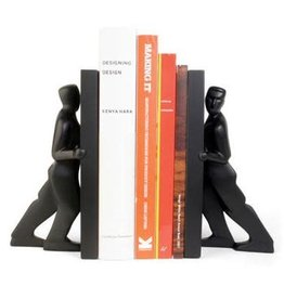 Pair Of Bookends Pushing Men