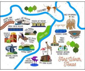 Tucker Ink Fort Worth Map Print