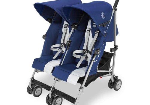 Maclaren Maclaren Twin Triumph Stroller In Medieval Blue-Silver