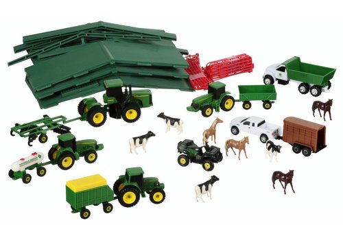 Tomy Tomy John Deere Farm Toy Playset 70 pc Box