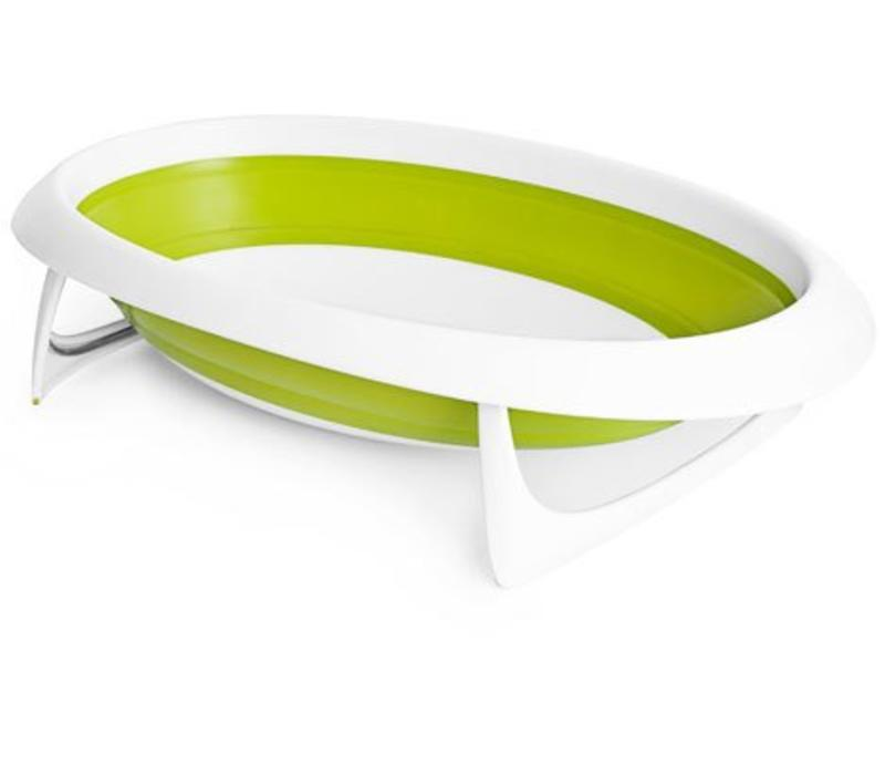 Boon Naked Collapsible Baby Bath Tub- Green/White