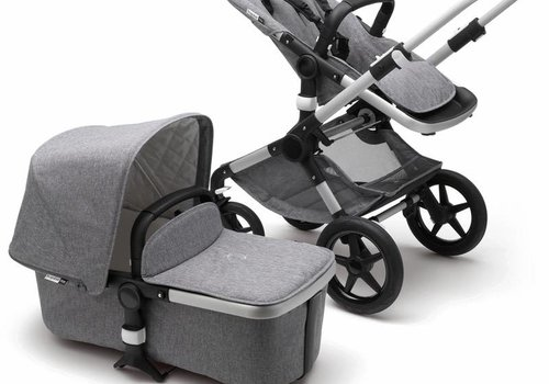Bugaboo Bugaboo Fox Classic+  (Quilted) Complete Aluminum/ Grey Melange