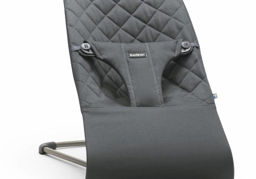 Baby Bjorn BABYBJORN Bouncer Bliss Quilted Cotton - Anthracite (Slate Grey)