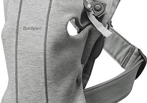 Baby Bjorn BABYBJORN Baby Carrier Mini 3D Jersey, In Light Grey (Heather)