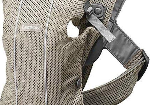 Baby Bjorn BABYBJORN Baby Carrier Mini 3D Mesh, In Greige (Beige Grey)