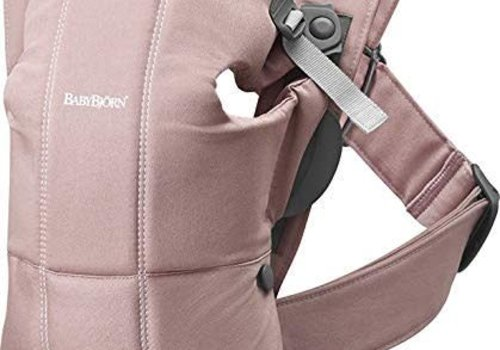 Baby Bjorn BABYBJORN Baby Carrier Mini, Cotton In Dusty Pink