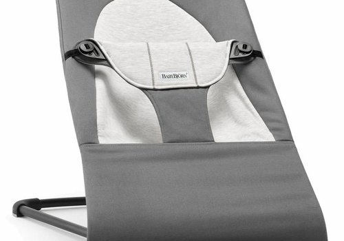 Baby Bjorn BABYBJORN Bouncer Balance Soft Cotton, Jersey - Dark Grey/Grey