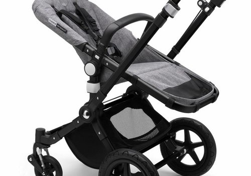 Bugaboo 2019 Bugaboo Cameleon3 PLUS Stroller Base Black- Grey Melange Bassinet/Seat/Underseatbasket With Canopy