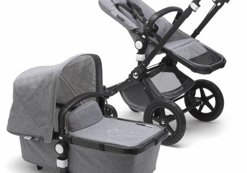 Bugaboo 2018 Bugaboo Cameleon3 PLUS Classic  (Quilted) Collection In Black/Frame With Grey Melange
