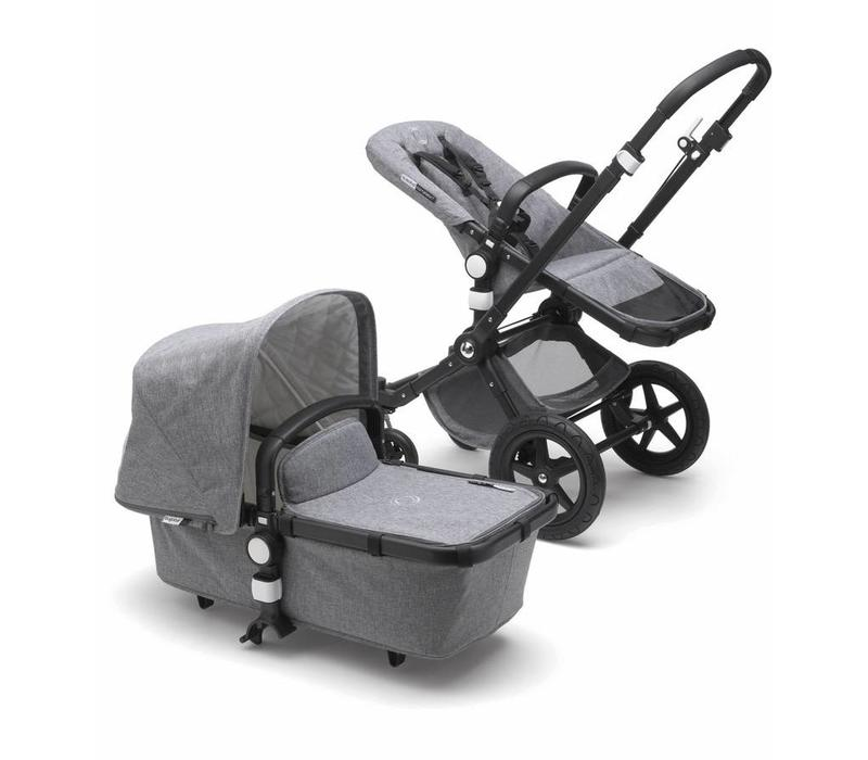 2018 Bugaboo Cameleon3 PLUS Classic  (Quilted) Collection In Black/Frame With Grey Melange