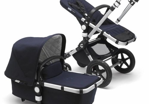 Bugaboo 2018 Bugaboo Cameleon3 PLUS Classic  (Quilted) Collection In Silver/Frame With Dark Navy