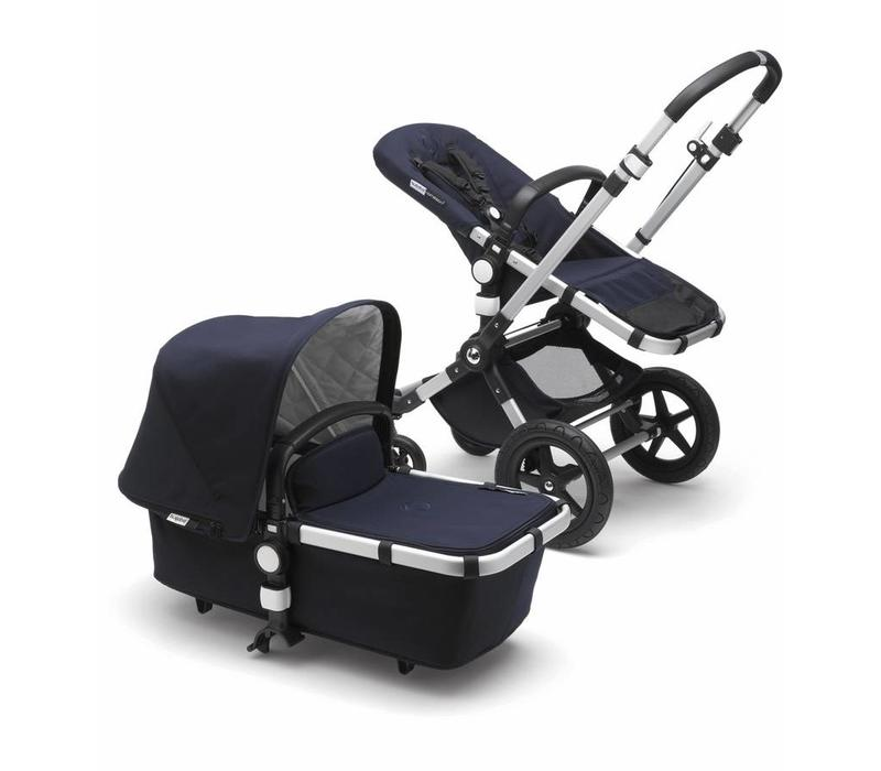2018 Bugaboo Cameleon3 PLUS Classic  (Quilted) Collection In Silver/Frame With Dark Navy