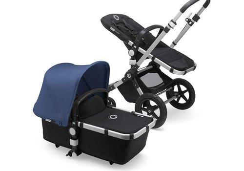 Bugaboo 2018 Bugaboo Cameleon3 PLUS Stroller Base Aluminum - Black Bassinet/Seat/Underseatbasket With Canopy Sky Blue