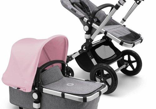 Bugaboo 2018 Bugaboo Cameleon3 PLUS Stroller Base Aluminum - Grey Melange Bassinet/Seat/Underseatbasket With Canopy Soft Pink