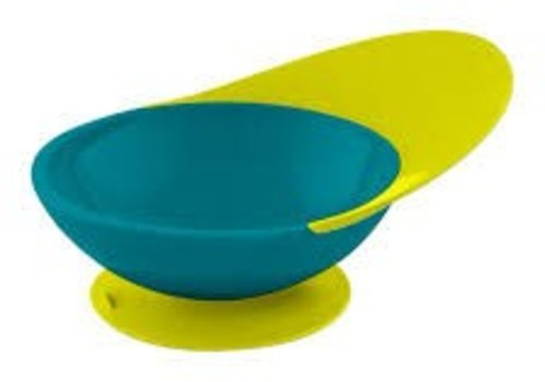 Boon Boon Catch Bowl With Spill Catcher Teal/Yellow