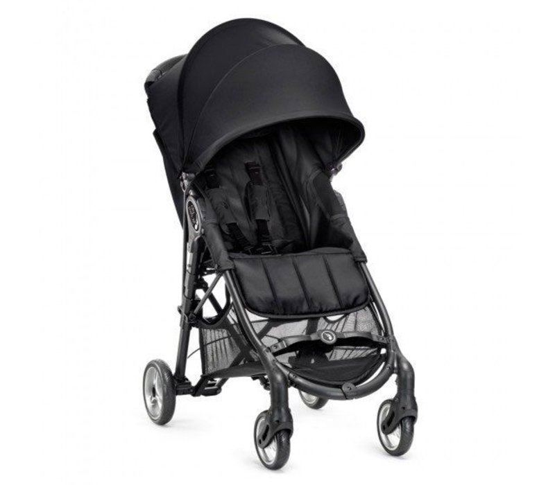 2018 Baby Jogger City Mini Zip Wheel Single In Black - Gray With Cup Holder