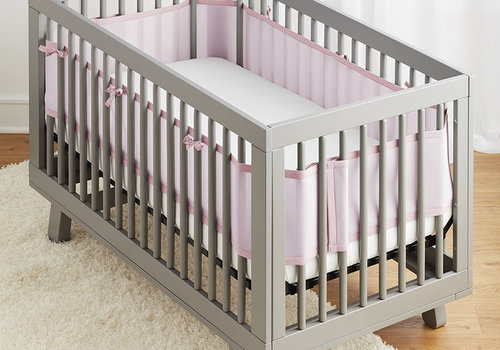 Breathable Baby Breathable Mesh Crib Liners In Light Pink