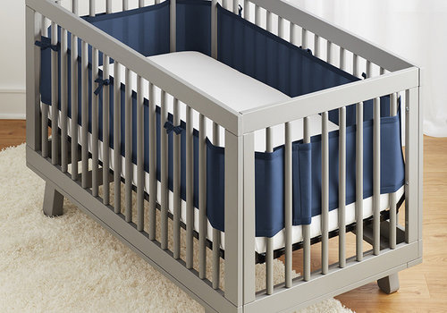 Breathable Baby Breathable Mesh Crib Liners In Navy
