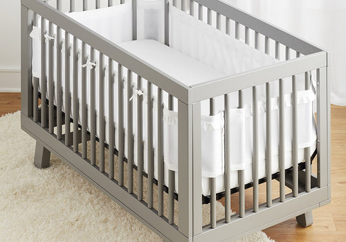Breathable Baby Breathable DELUXE Mesh Crib Liners In White Raffle