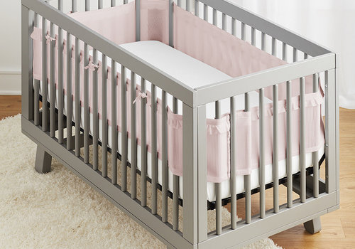 Breathable Baby Breathable DELUXE Mesh Crib Liners In Blush Raffle
