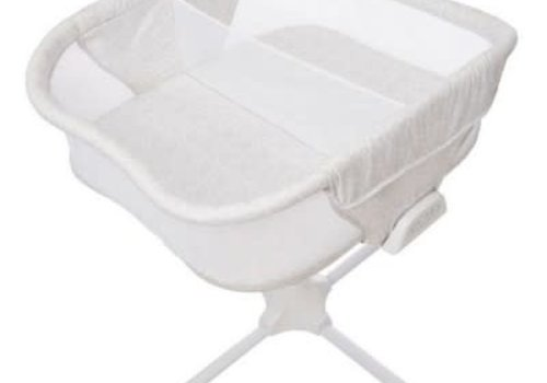 Halo Halo Bassinet Twin Sleeper In Sand Circles