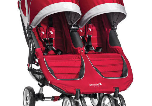 Baby Jogger 2018 Baby Jogger City Mini Double In Crimson- Gray