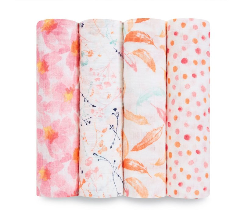 aden + anais Petal Blooms Classic Swaddles (4 Pack)
