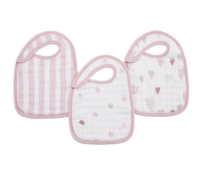 aden + anais Heart Breaker Snap Bibs (3 Pack)